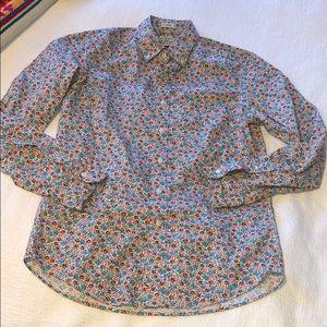 J.crew slim fit floral print button-down shirt